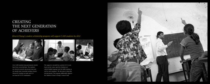 Photographing children for EY corporate responsibility (CSR) campain in India
