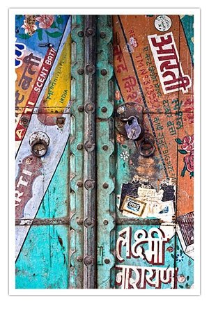 Door in Jodhpur, Copyright David DuChemain