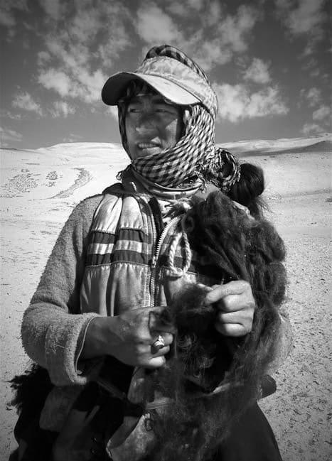 A nomad woman near Tsomoriri, Ladakh. June 2011. iPhone image © 2011 Sephi Bergerson