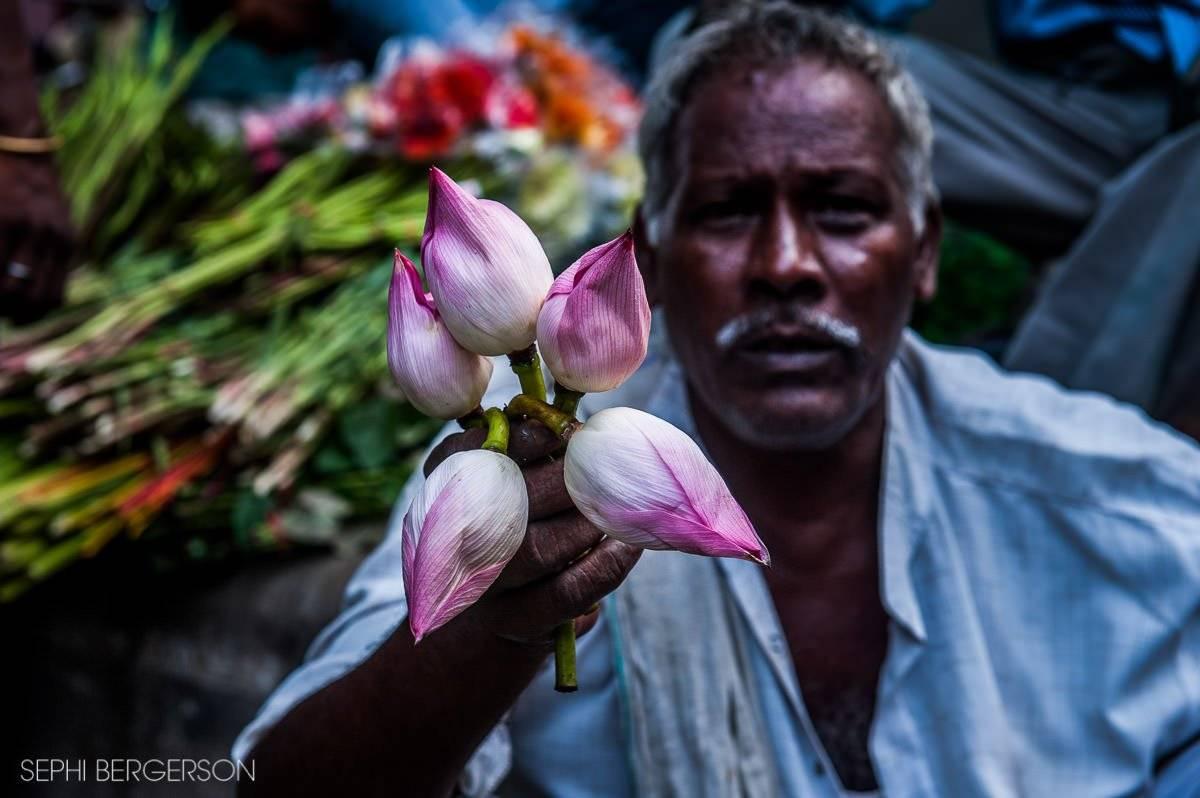 Hanuman Mandir Flower Market